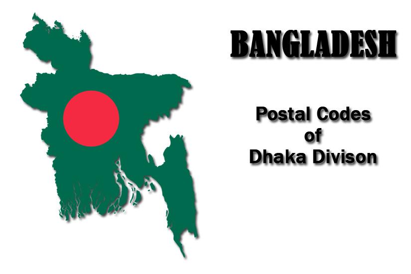 Post Code of Dhaka Division